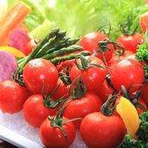 【朝食】新鮮野菜をご用意しております。