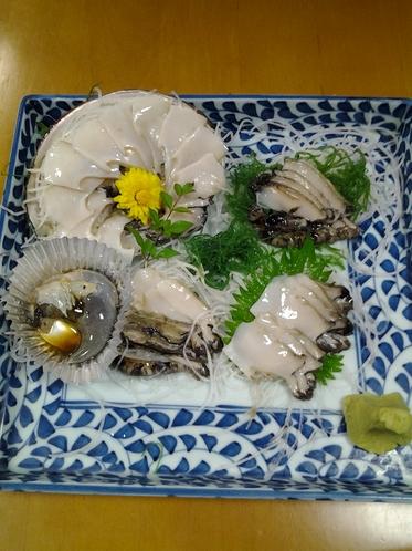 美味!刺身のアワビ! 【別注】¥3000