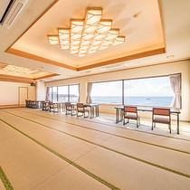 *【館内(お食事処)】海を眺めながら、三崎の新鮮なお食事をお楽しみください。