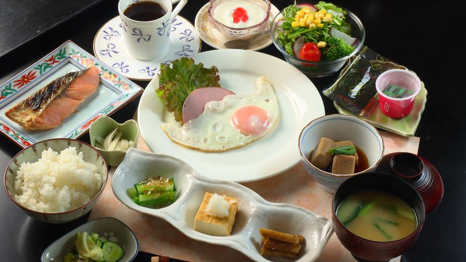 ◆【料理】新鮮な地場産食材をたくさん使用し体にやさしい朝食の一例