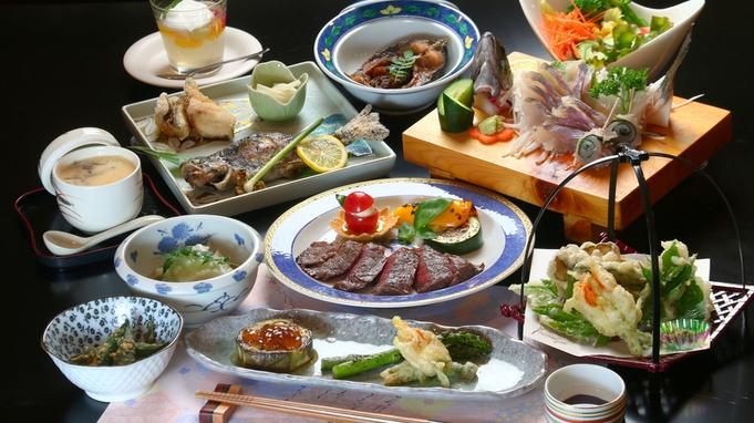 ◆【1泊2食/グレードアップ】せっかくだから贅沢に。自家製食材、手作り料理全10品≪温泉入浴券付≫
