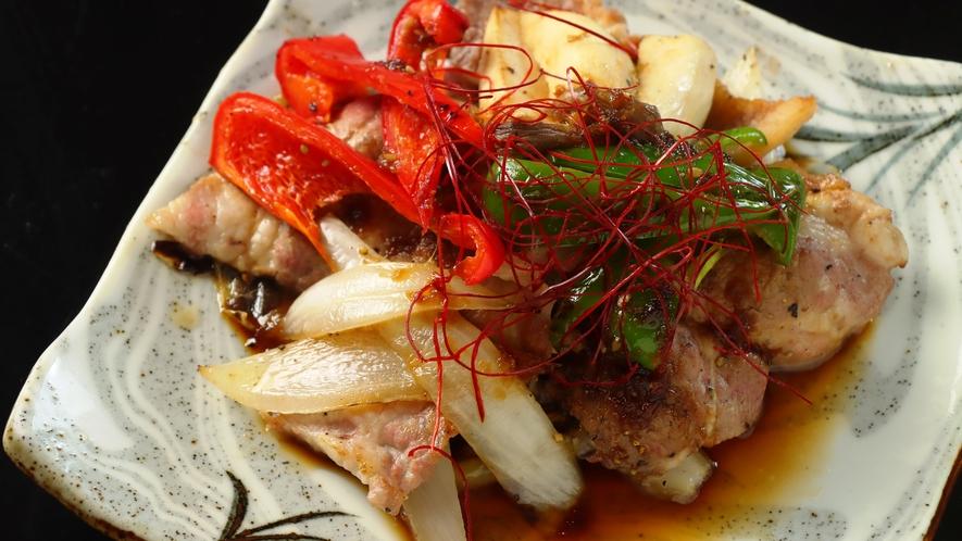 ◆【料理】ライトコース・ビジネスプランお料理一例。信州ポークの焼肉