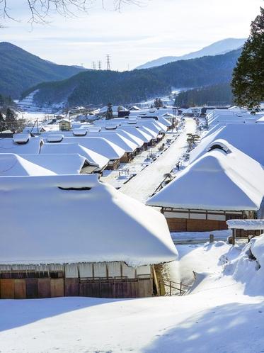 【冬】大内宿 雪景色