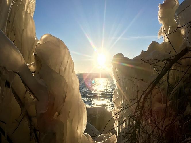 【冬】猪苗代湖 しぶき氷
