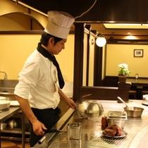 お食事処「季味の浪慢」 オープンキッチン