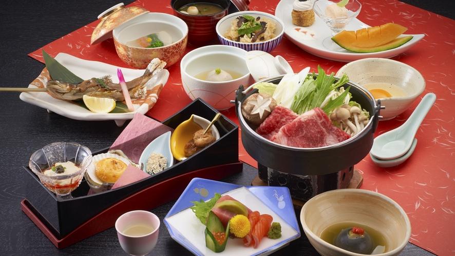 <お部屋食一例>旅館といえば和食
