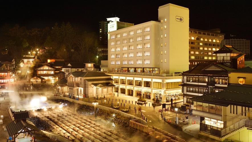 2016年11月にリニューアルしたホテル一井の外観