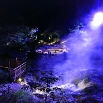 西の河原公園でもライティングイベント開催中