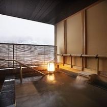 貸し切り風呂(冬景色)