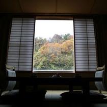 紅葉時期のお部屋からの眺め