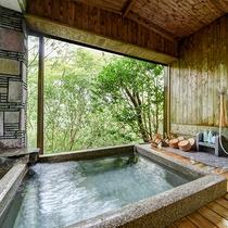 *【浴室・女湯】別棟にございます。窓を開け放つと露天風呂さながらの開放感があります。