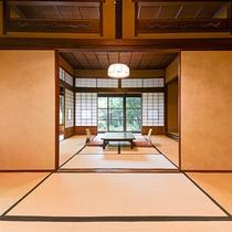 *【部屋一例・雲居の間】昭和32年皇太子殿下御宿泊の部屋。