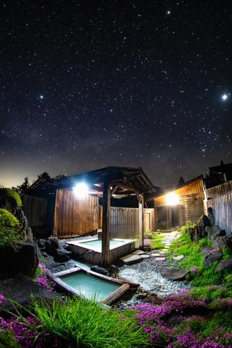 星と露天風呂