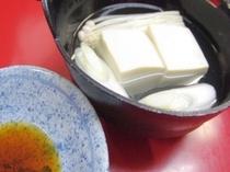 朝の湯豆腐