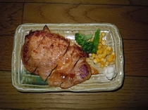 【朝食】日替わりメニュー和食・豚肉の味噌漬け
