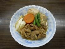 【朝食】日替りメニュー和食・肉豆腐