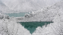 *周辺観光/冬の大町ダム