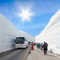 **【立山黒部アルペンルート/雪の大谷】視野を覆うほどの雪の壁は圧巻!ウォークイベントもあります