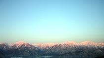 *周辺観光/冬の早朝・アルプス