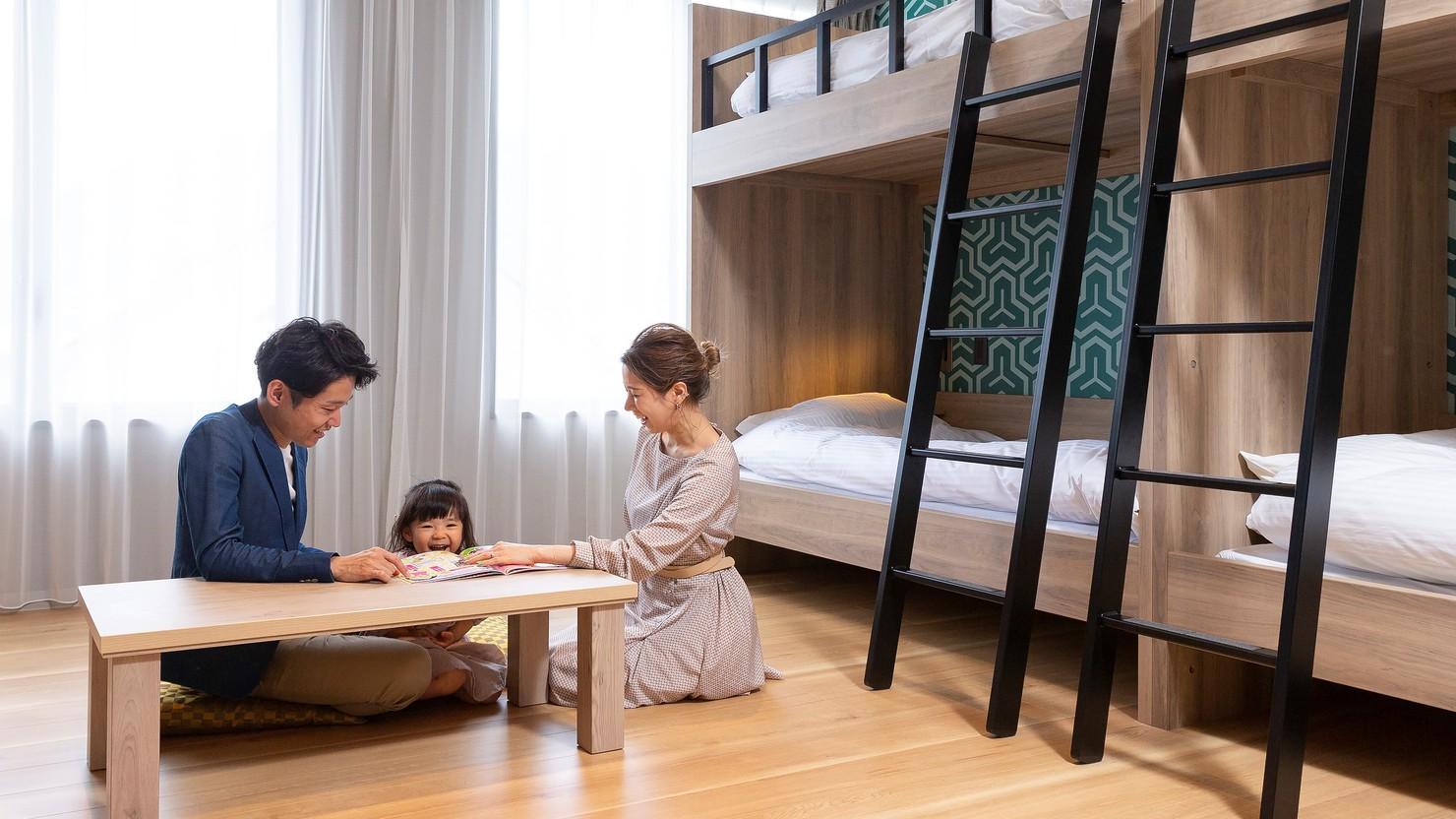 ■2階「K-Parkフロア」2段ベッドフォースルーム(30.7m2)