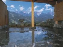 白馬村内の露店風呂