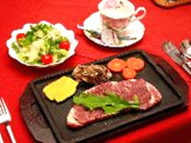 牛肉を使ったボリューム満点お食事