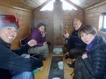 桧原湖氷上ワカサギ釣り