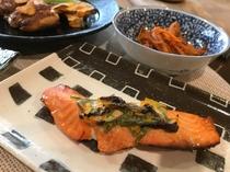 鮭の更紗焼き