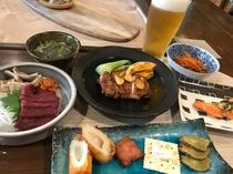 夕食料理一例