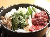 風来坊名物桜肉鍋は好評です