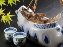 【別注料理】岩魚の骨酒