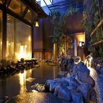 ◆男子大浴場露天岩風呂