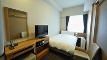 スタンダードセミダブル (14平米 ベッド幅120×195センチ)◆シモンズ製べッド完備◆