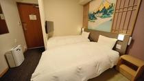 【喫煙】和風ハリウッドツイン (17平米ベッド幅90×195センチ2台)◆シモンズ製べッド完備◆