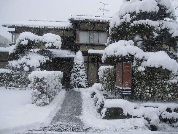(1)冬の雪景色 こまかい雪が30は積もっています