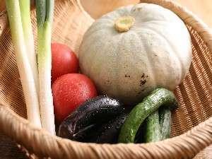 (1)料理に使用する野菜は契約農家から採れたてが届きます。(一例)
