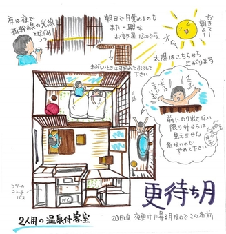 【禁煙】源泉かけ流しの露天風呂付客室『更待ち月』