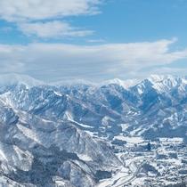GALA湯沢スキー場からの眺め