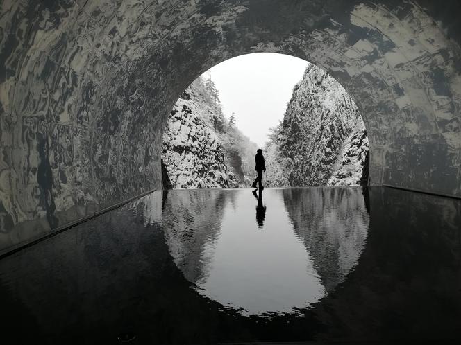 清津峡トンネル冬