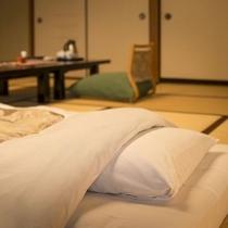 素泊りタイプの客室は、お布団はIN時にご用意させていただいています。