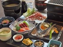 【夕食一例・味覚プラン】地元むかわの新鮮な食材をお手軽に満喫できます。