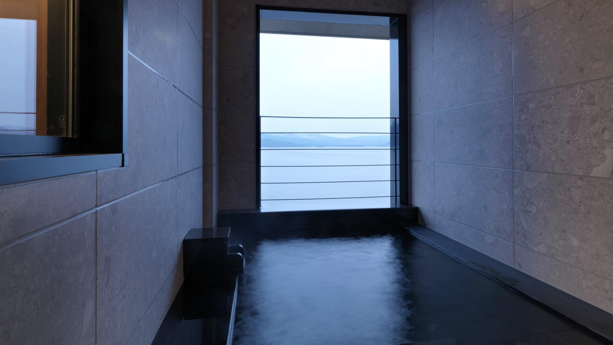 【別館】温泉付展望特別室 一例/お部屋には温泉展望風呂付。阿寒の自然を眺めながらの湯あみを・・・