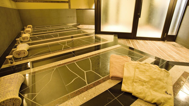 ■8F大浴場「天の原」内岩盤浴場/日頃の疲れを癒してココロもカラダも健康に。