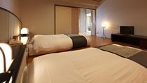 【別館】湖側グループ特別室 一例/和室2間とツインベッドルームから成るお部屋です。