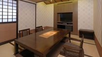 【別館】和洋特別室 一例/和室+ベッドルーム+掘りごたつの食事スペースがございます。