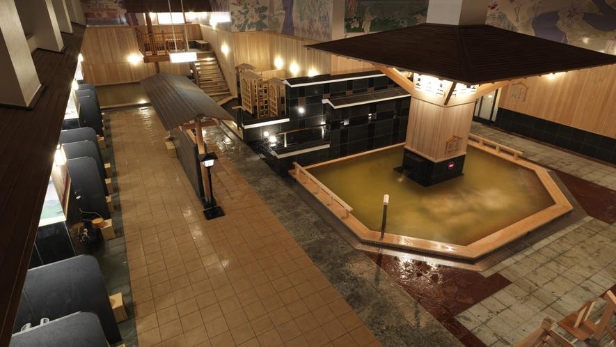 ■1F大浴場(地下)「豊雅殿」/鶴雅自慢の、匠と心地よい演出を随所にちりばめた、くつろぎと感動の湯
