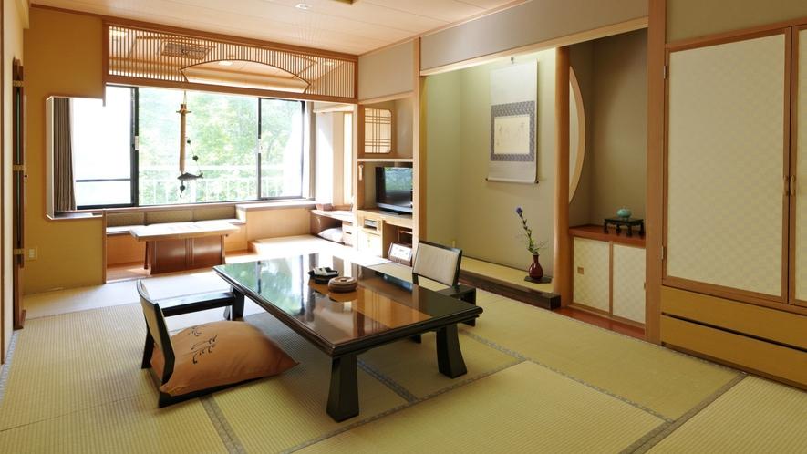 【栞の館】和室12畳(一例)/和のしつらえの中にも大正の瀟洒な洋館の趣が漂うモダンな雰囲気です。