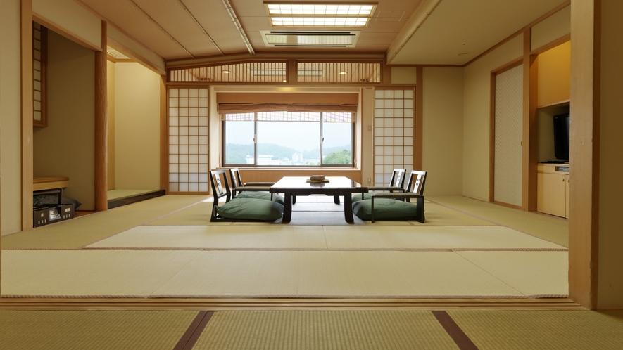 【グループ客室】湖側/多人数でも快適に過ごせる工夫を施しております。