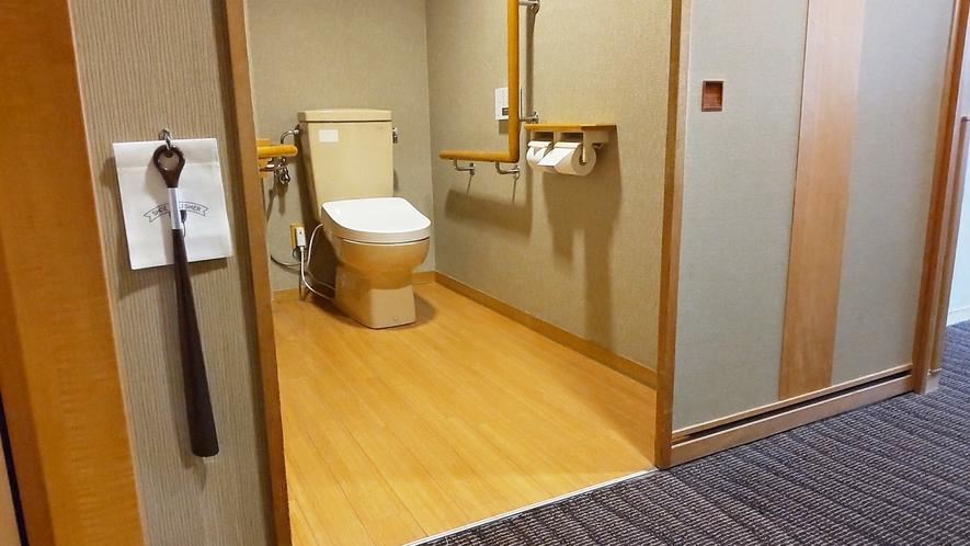 【こもれび】DX和洋室/トイレには手すりを設け、通常より広めなつくりに(イメージ)