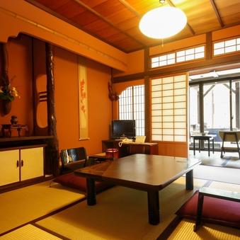 ◆露天風呂付・準特別室◆【ひさごの間】(6畳×2部屋)